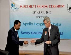 Agreement signing Ceremony between Apollo Hospital & Sentry Security Services Ltd.1