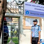 Security Guarding Services at Indian visa application center, Dhanmondi, Sentry Security Services Ltd.