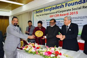 Taking Award from BBF CSR Award 2015